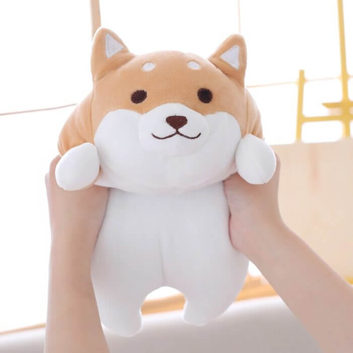 36/55 Cute Fat Shiba Inu Dog Plush Toy Stuffed Soft Kawaii Animal Cartoon Pillow Lovely Gift for Kids Baby Children Good Quality 6