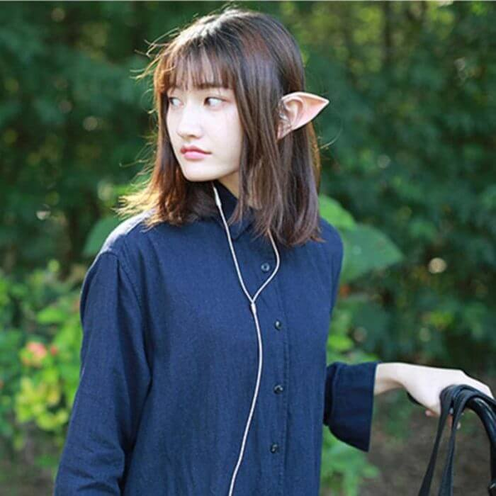 Low Bass In-ear Earphones Super Clear Elf with Mic Silicone Halloween Cosplay Wired Earphones fone de ouvido for phone Headset 2