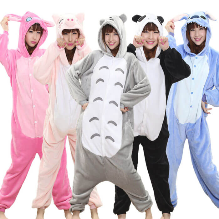 Totoro Kigurumi Onesie Adult  Animal Unicorn Pajamas Suit Warm Soft Stitch Sleepwear Onepiece Winter Jumpsuit Pijama Cosplay 1