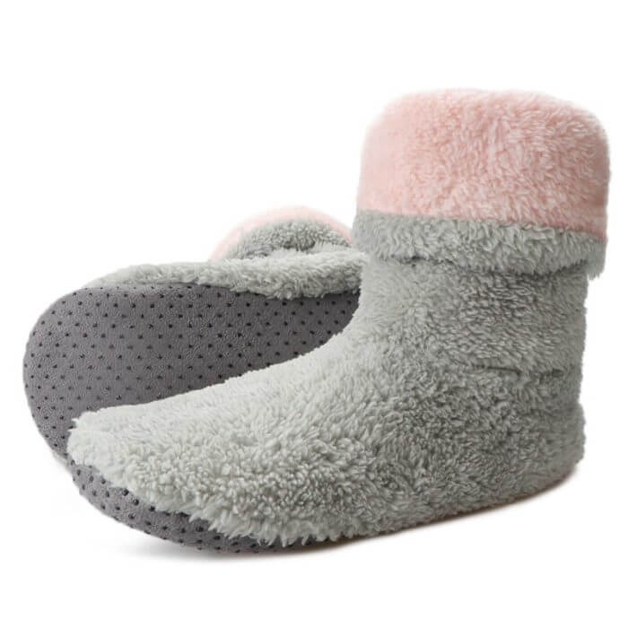Home Slippers Women Coral Fleece Indoor Floor Shoes Warm Furry Slides Winter Indoor Sock Shoes Soft Slippers Chaussures Femme 24