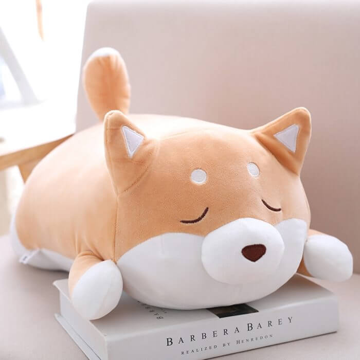 36/55 Cute Fat Shiba Inu Dog Plush Toy Stuffed Soft Kawaii Animal Cartoon Pillow Lovely Gift for Kids Baby Children Good Quality 3