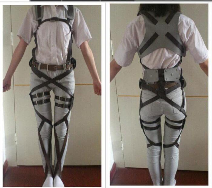Attack on Titan Shingeki no Kyojin Recon Corps Harness belt hookshot Costume Adjustable Belts cosplay belts free shipping 2
