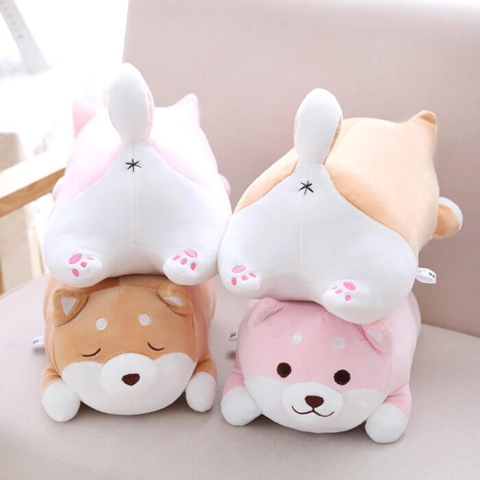 36/55 Cute Fat Shiba Inu Dog Plush Toy Stuffed Soft Kawaii Animal Cartoon Pillow Lovely Gift for Kids Baby Children Good Quality 2
