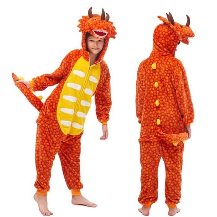 Kids Kigurumi Onesie Unicorn Pajamas For Children Animal Dinosaur Blanket Sleepers Baby Costume Winter Boy Girl Licorne Jumspuit 4