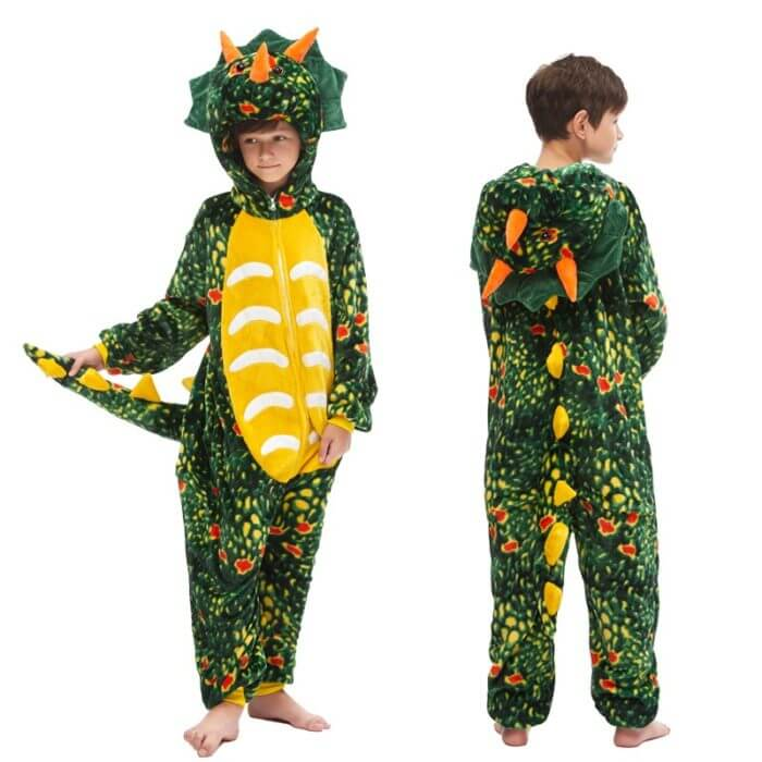 Kids Kigurumi Onesie Unicorn Pajamas For Children Animal Dinosaur Blanket Sleepers Baby Costume Winter Boy Girl Licorne Jumspuit 3