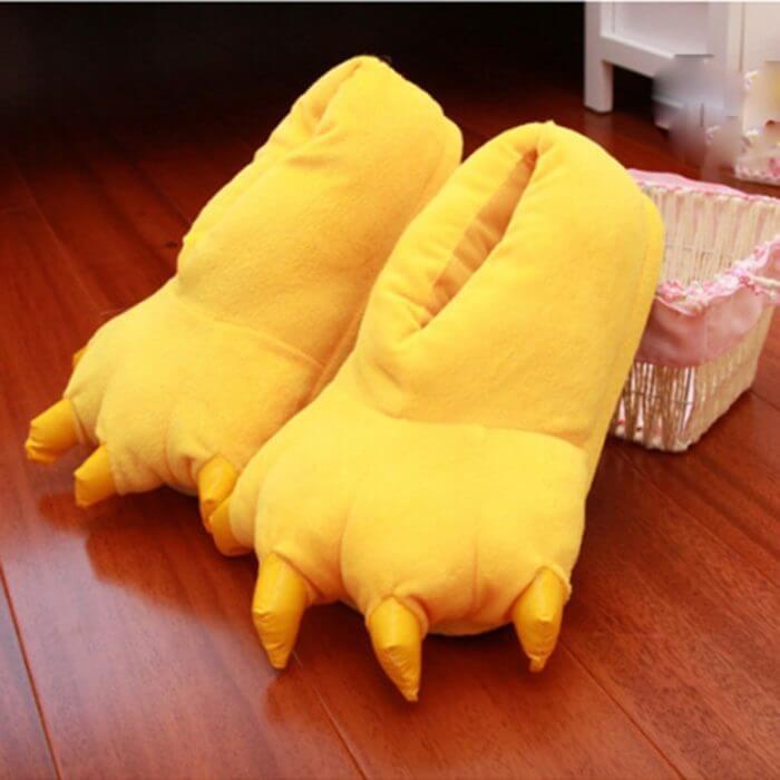 2018 Winter Warm Soft indoor floor Slippers Women Men Children Shoes Paw Funny Animal Christmas Monster Dinosaur Claw Plush Home 5