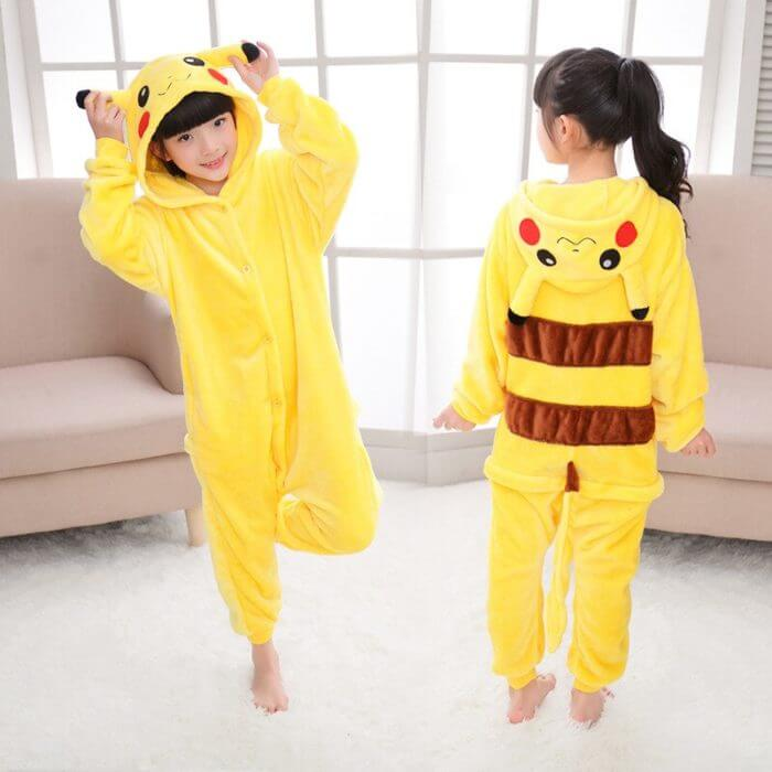Kigurumi Unicorn Pajama Adult Animal Pikachu Onesie Women Men Couple 2019 Winter Pajamas Suit Stitch Sleepwear Flannel Pijamas 16