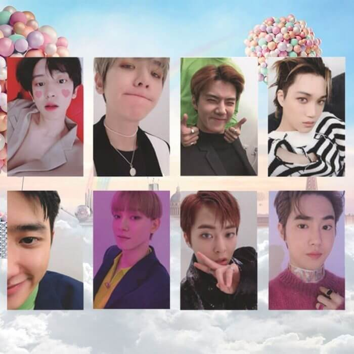 8Pcs/Set  KPOP EXO Album Self Made Paper Card Photo Card Poster HD Photocard Fans Gift Collection 1