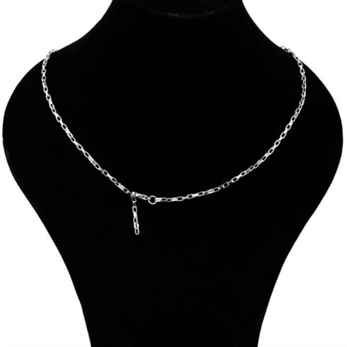 Korea Steel Jewelry 316l Stainless Steel Chain Necklace men's fashion silver color Necklace Hip Hop women Jewelry kpop 3