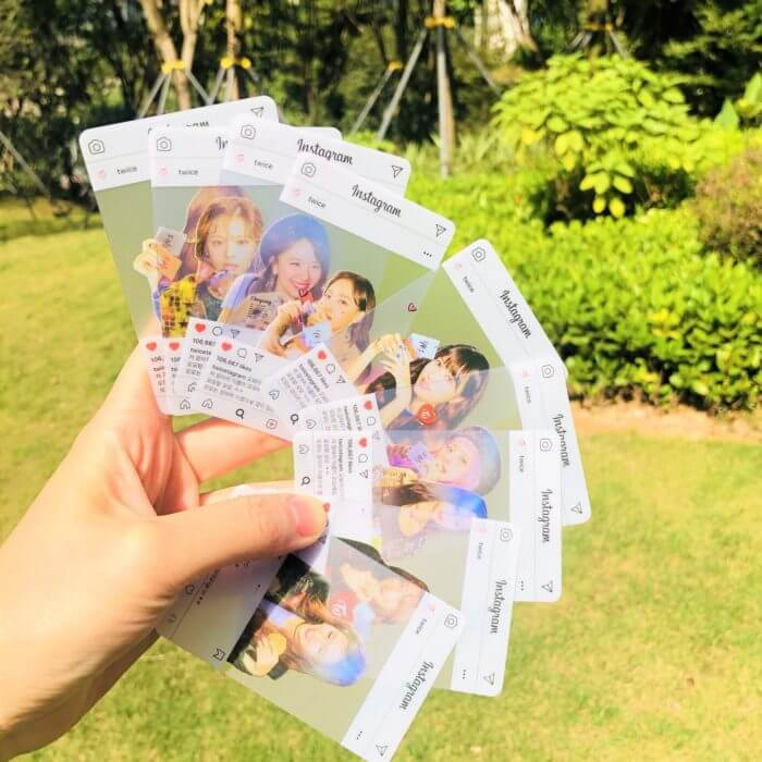 9pcs/set kpop TWICE INS Transparent Photocard new arrivals good quality photo card Twice kpop supplies whloesale price 22