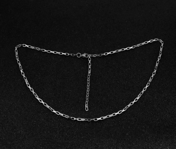 Korea Steel Jewelry 316l Stainless Steel Chain Necklace men's fashion silver color Necklace Hip Hop women Jewelry kpop 12