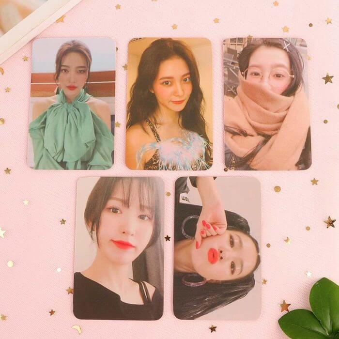 KPOP Red Velvet Postcard PHOTO Cards 5 Pcs K-pop Red Velvet Yeri JOY SeulGi Wendy LOMO Card Kpop  Photocard Album 1