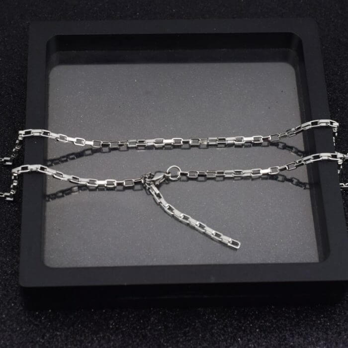 Korea Steel Jewelry 316l Stainless Steel Chain Necklace men's fashion silver color Necklace Hip Hop women Jewelry kpop 6