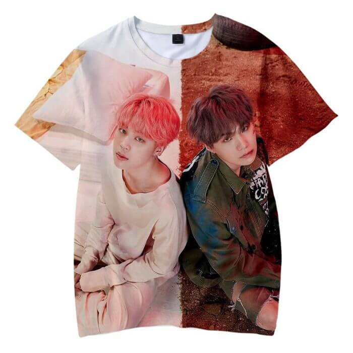 New Korean Fashion Harajuku Streetwear 3D Kpop T Shirt Men/women Hip Hop K-pop Tshirt Female Short Sleeve 3D Kid Tee Shirt Femme 2