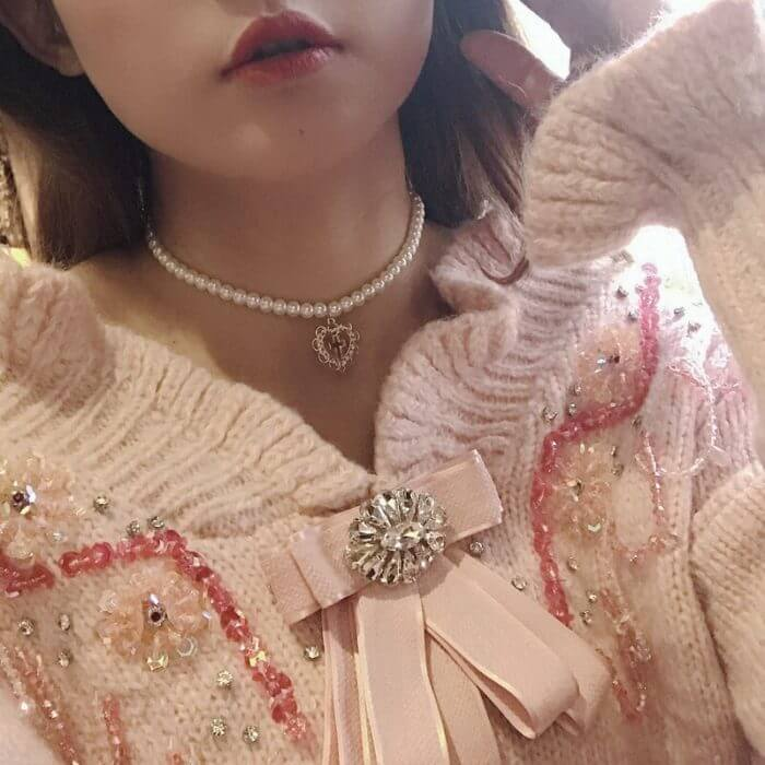 Kpop Heart chain Choker Necklaces For Women collar Goth Necklace aesthetic jewellery Valentines Party Girl Gif 5