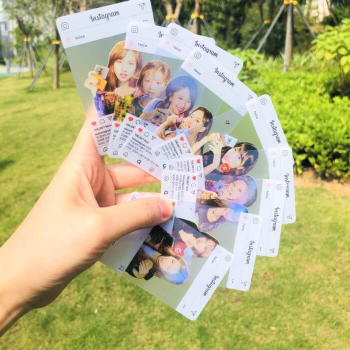 9pcs/set kpop TWICE INS Transparent Photocard new arrivals good quality photo card Twice kpop supplies whloesale price 1
