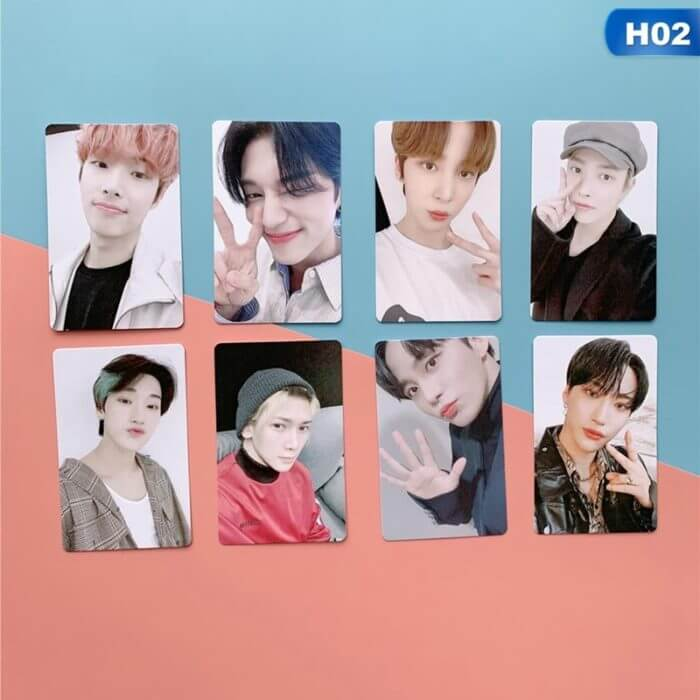 8Pcs/Set Kpop ATEEZ Photo Card Postcard Lomo Card For Fans Collection New Arrivals 7