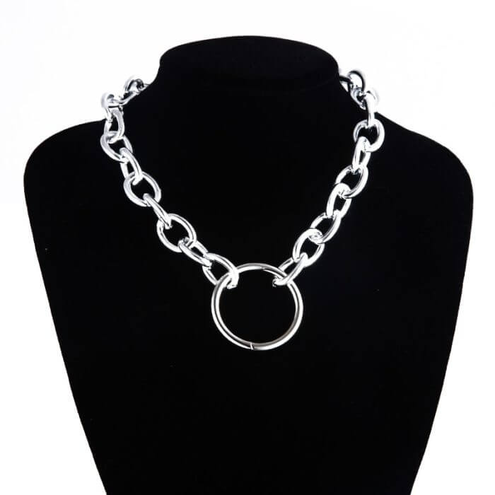 Kpop aesthetic chain necklace gothic chains choker grunge girl emo goth Jewelry chains 90s fashion accessories 6