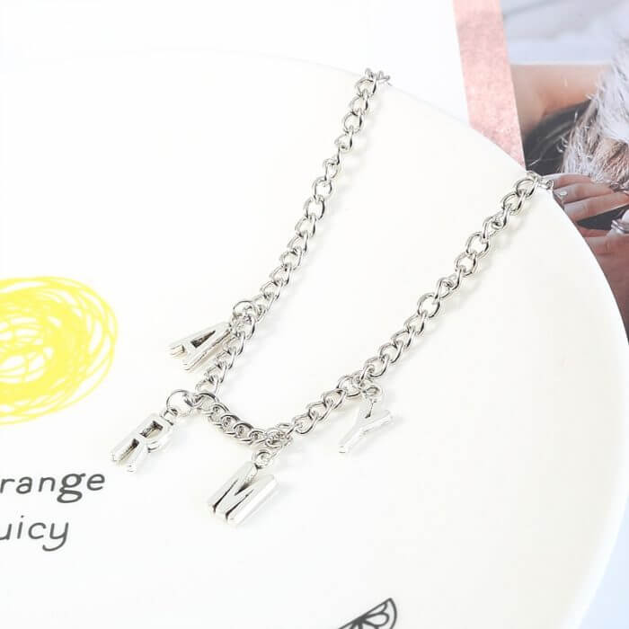 Korean Style Fashion Initial Hand Bracelet Jimin ARMY Letter Bracelets for Women Men Kpop Bangtan Boys Jewelry Birthday Gifts 13