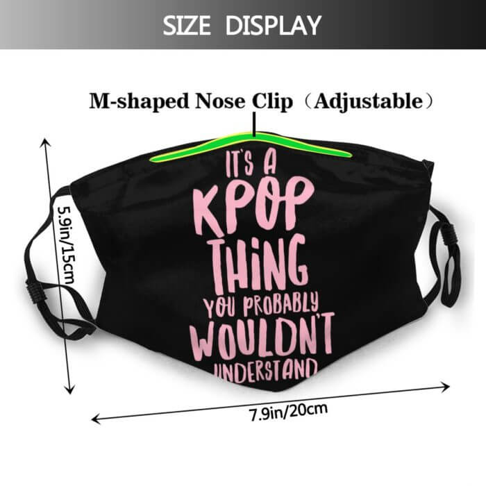 Kpop Mouth Face Mask It Is A KPOP Thing Facial Mask for Adult Fashion Beautiful with 2 Filters Mask 2