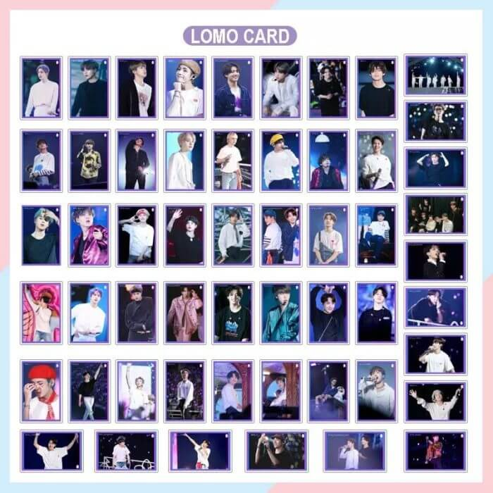 South Korean Groups K-POP Bangtan Boys Lomo Card Poster New Album Map Of The Soul 7 Collection Card Photocard JUNG KOOK JIMIN 66