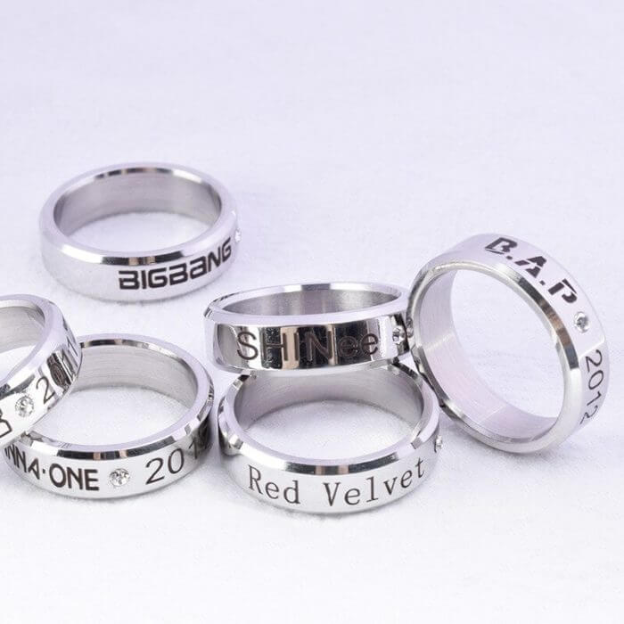 Kpop Stray Kids Alloy Ring Simple Fashion style for Lover fans gift collection Wanna One Bigbang Finger ring kpop stray kids 2