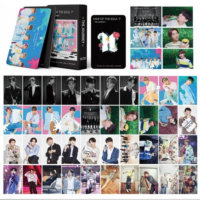 54PC KPOP Boys Photocard Album SPEAK YOURSELF Self Made Paper Card Lighes/Boys With Luv Photo Cards Poster 5