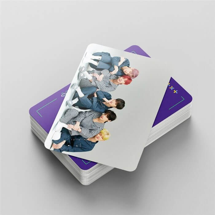 54 Pcs / Set Kpop TXT Album Photo Card Lomo Cards Postcards Decoration Self Made Photo Cards Decoration Supplies Fans Gifts 5