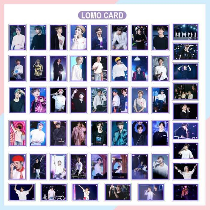 54PC KPOP Boys Photocard Album SPEAK YOURSELF Self Made Paper Card Lighes/Boys With Luv Photo Cards Poster 3