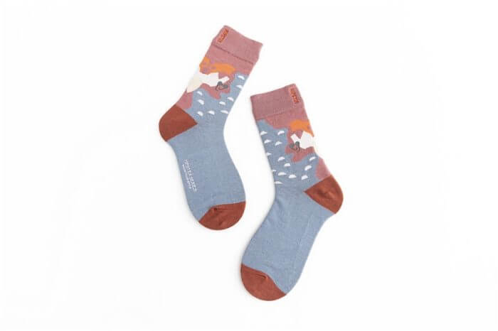 Unisex Painting Style Women Socks 100 Cotton Harajuku Colorful Kawaii  Full Socks Women1 Pair  Streetwear Size 35-43 8