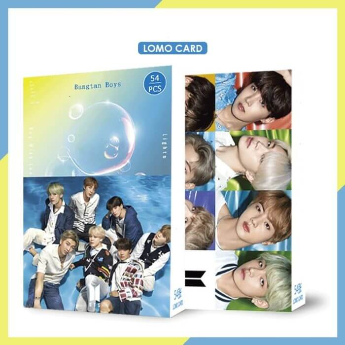 54PC KPOP Boys Photocard Album SPEAK YOURSELF Self Made Paper Card Lighes/Boys With Luv Photo Cards Poster 6