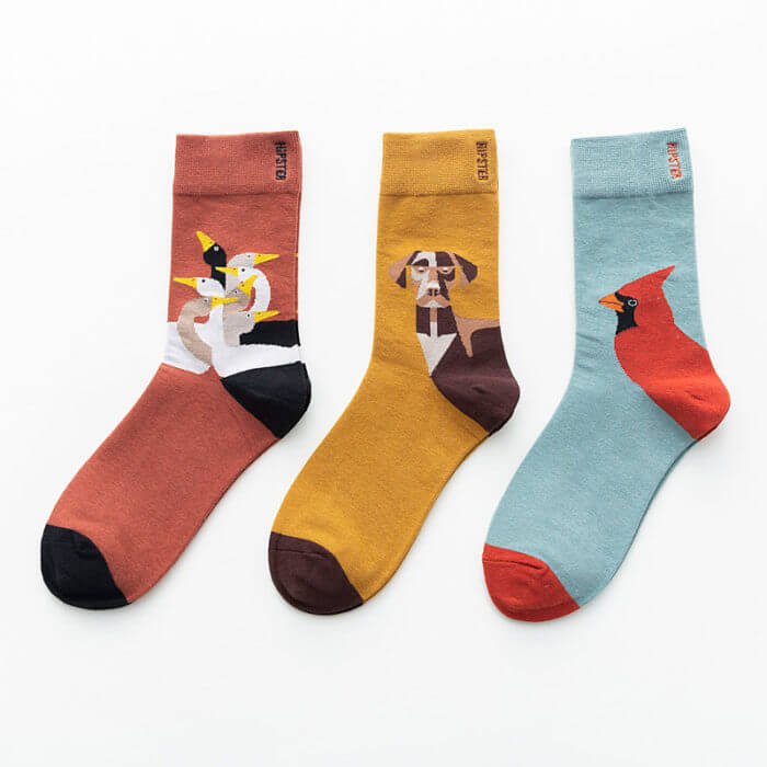 Unisex Painting Style Women Socks 100 Cotton Harajuku Colorful Kawaii  Full Socks Women1 Pair  Streetwear Size 35-43 1