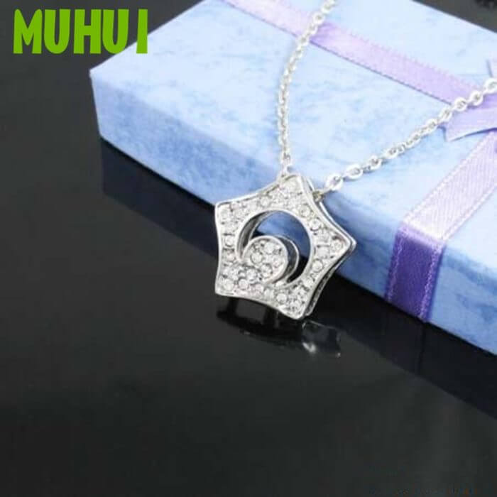 Free Shipping Kpop Boys over flowers Necklace Crystal Star Pendant Choker Necklaces For Women Jewelry Collares B081 1