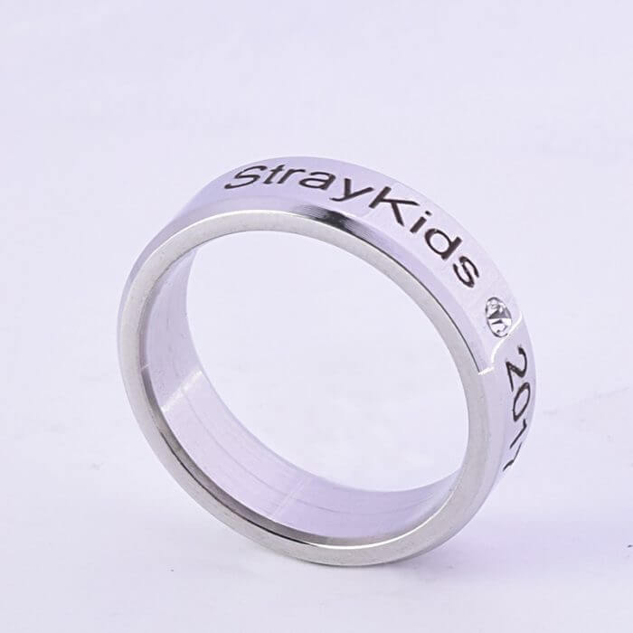 Kpop Stray Kids Alloy Ring Simple Fashion style for Lover fans gift collection Wanna One Bigbang Finger ring kpop stray kids 1