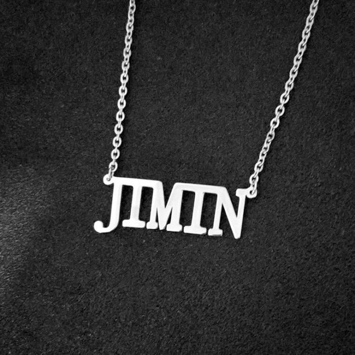 Stainless Steel Jin Suga Jhope Jungkook V Jimin Chain Necklace Letter Friends Fans Gifts Cool Korean Harajuku Boys Kpop Necklace 2