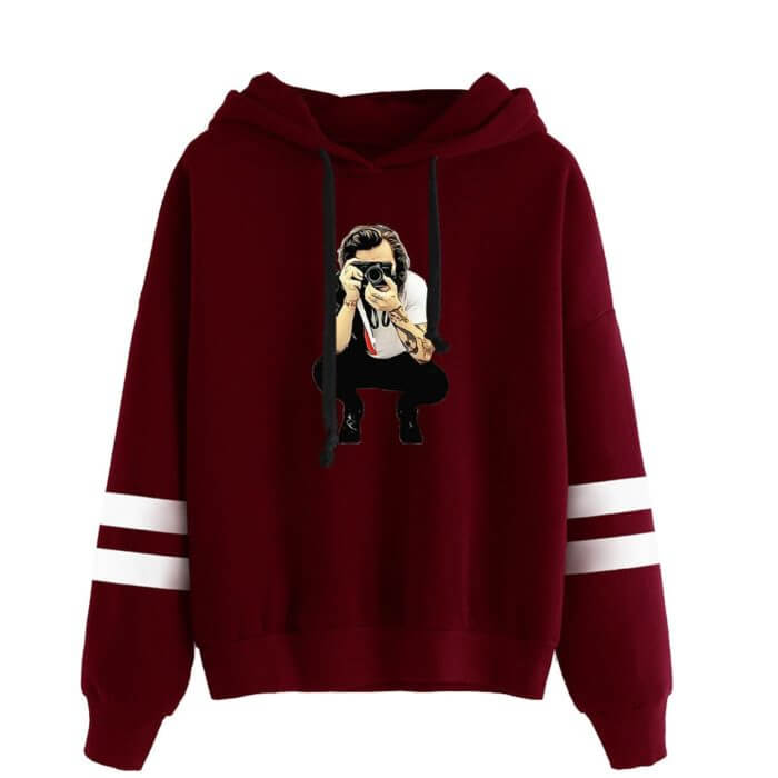 High quality Winter Casual Harry Styles Fashion Men/Women Vintage Casual Punk Letter Hip Hop Kpop Hooded Sweatshirt 56