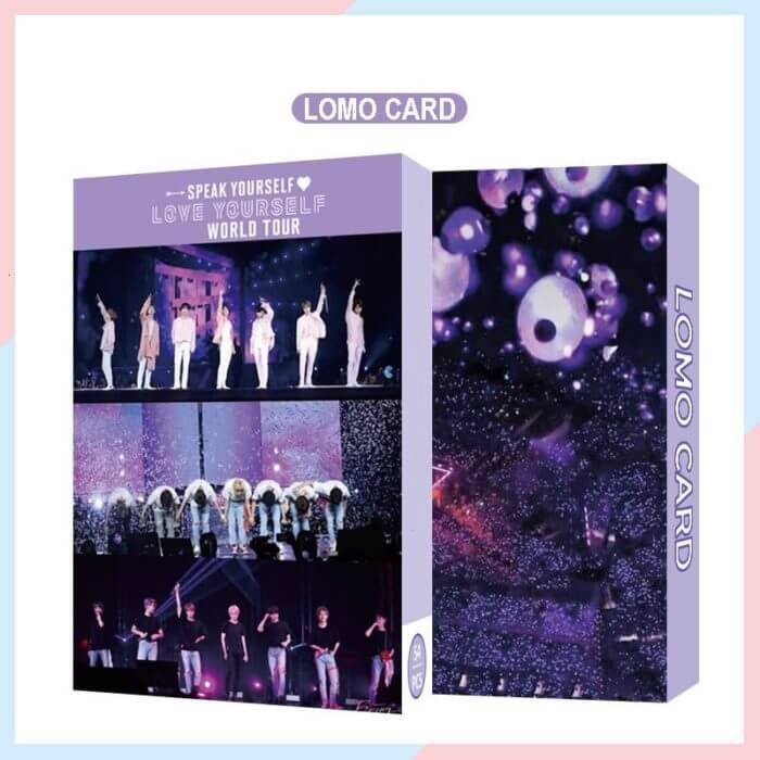 54PC KPOP Boys Photocard Album SPEAK YOURSELF Self Made Paper Card Lighes/Boys With Luv Photo Cards Poster 1
