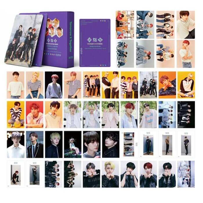 54 Pcs / Set Kpop TXT Album Photo Card Lomo Cards Postcards Decoration Self Made Photo Cards Decoration Supplies Fans Gifts 2