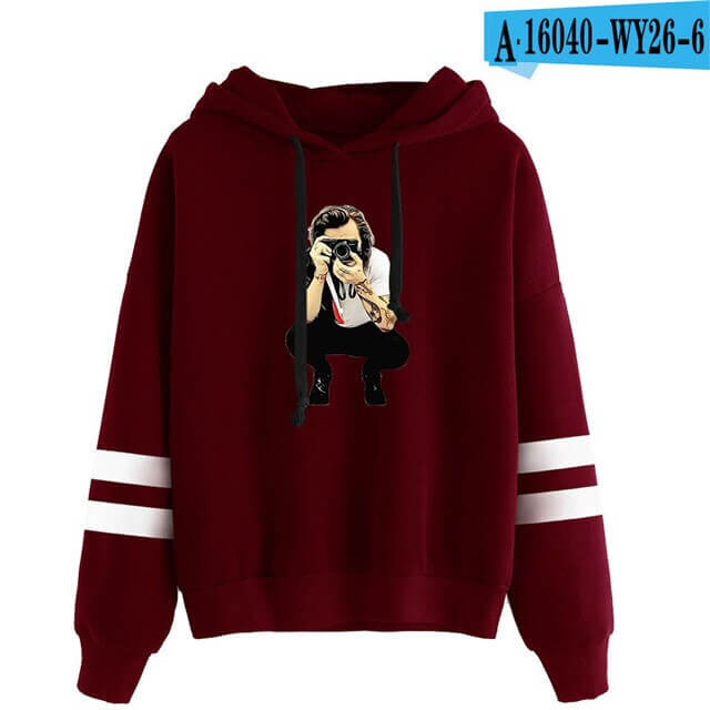 High quality Winter Casual Harry Styles Fashion Men/Women Vintage Casual Punk Letter Hip Hop Kpop Hooded Sweatshirt 1
