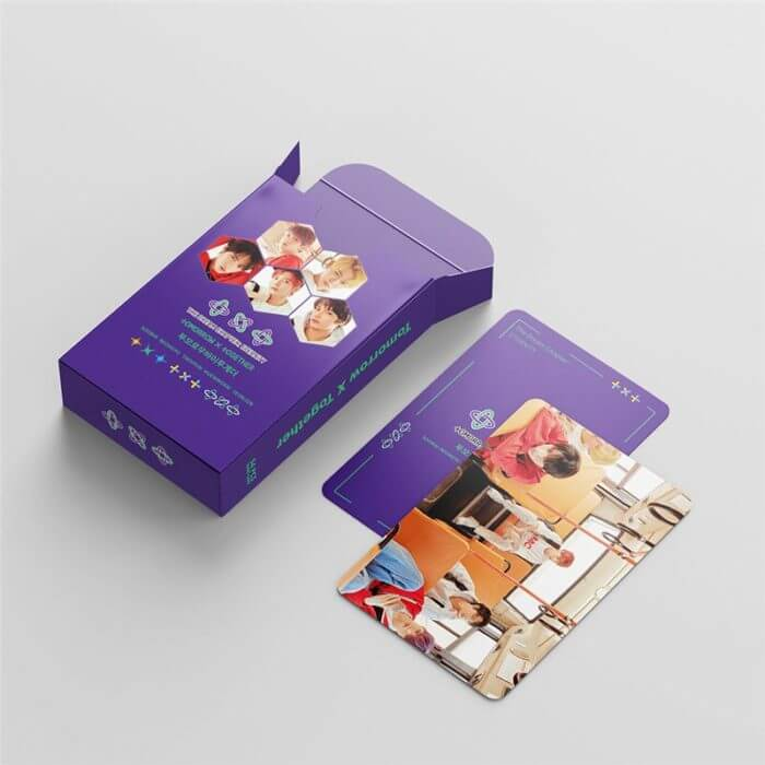 54 Pcs / Set Kpop TXT Album Photo Card Lomo Cards Postcards Decoration Self Made Photo Cards Decoration Supplies Fans Gifts 6