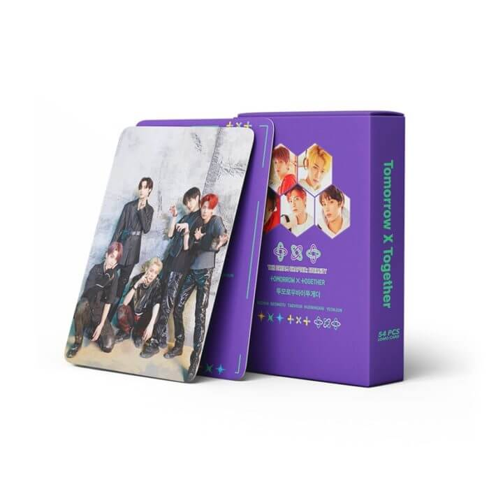 54 Pcs / Set Kpop TXT Album Photo Card Lomo Cards Postcards Decoration Self Made Photo Cards Decoration Supplies Fans Gifts 1