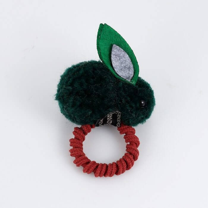 Cute animal hair ball rabbit hair ring female rubber band elastic hair bands Korean headwear children hair Accessories ornaments 27