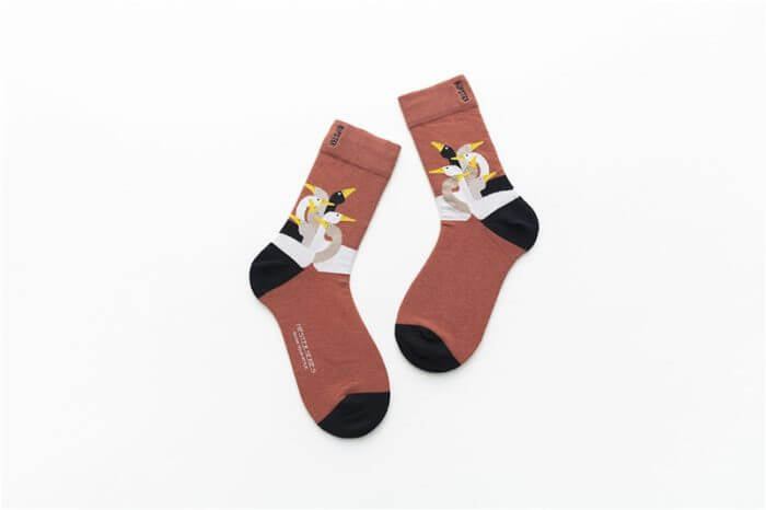 Unisex Painting Style Women Socks 100 Cotton Harajuku Colorful Kawaii  Full Socks Women1 Pair  Streetwear Size 35-43 12