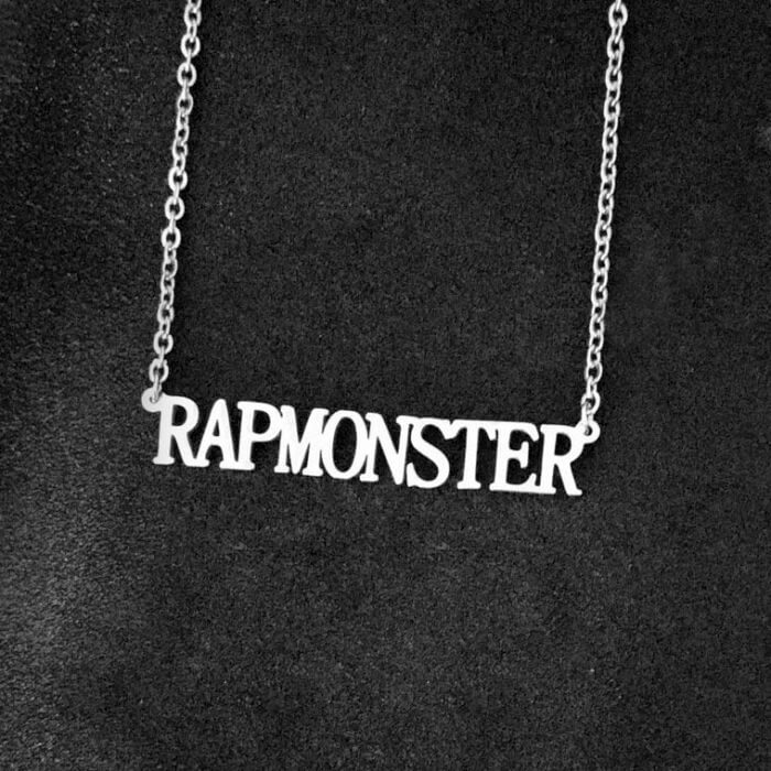 Stainless Steel Jin Suga Jhope Jungkook V Jimin Chain Necklace Letter Friends Fans Gifts Cool Korean Harajuku Boys Kpop Necklace 23
